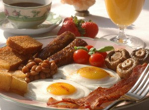 "le fameux ""Full English Breakfast"""