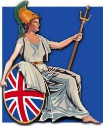 La déésse romaine, Britannia, un symbole de la nation