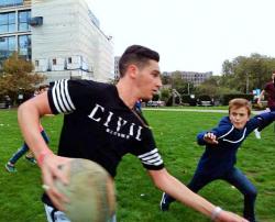 Durant l'entrainement, pas de place pour les amateurs ! Rugby-stage-Londres 2015