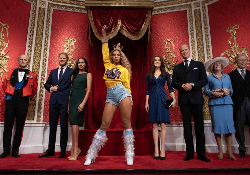 Beyoncé et la famille royale d'Angleterre au Madame Tussaud's