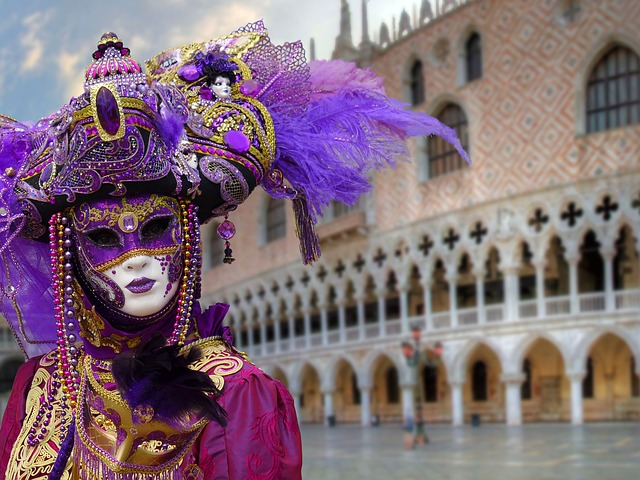 Carnaval Masque violet